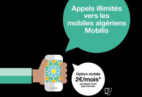 article  Orange les appels illimites vers mobiles Mobilis en Algerie option