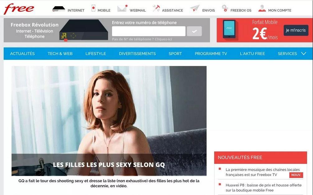 le portail free volue avec un changement de design et du nouveau contenu. Black Bedroom Furniture Sets. Home Design Ideas