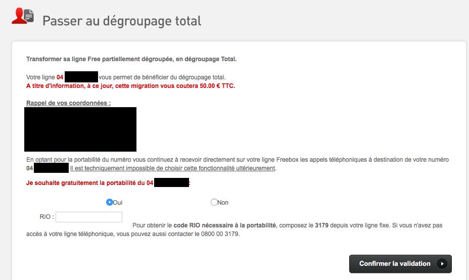 article  Freebox le numero RIO devient obligatoire pour la portabilite lors du passage en degroupage total
