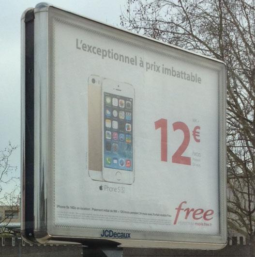 tarif iphone 5s free