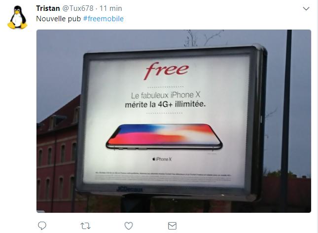 Free lance une campagne de pub avec l iphone x - Ne plus recevoir de coup de telephone publicitaire ...