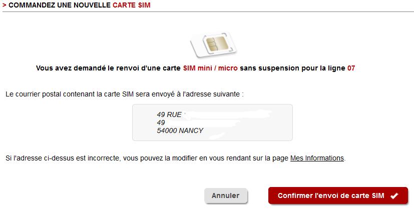 comment commander une nouvelle carte sim free Free Mobile : changement d'interface pour le renvoi de carte SIM