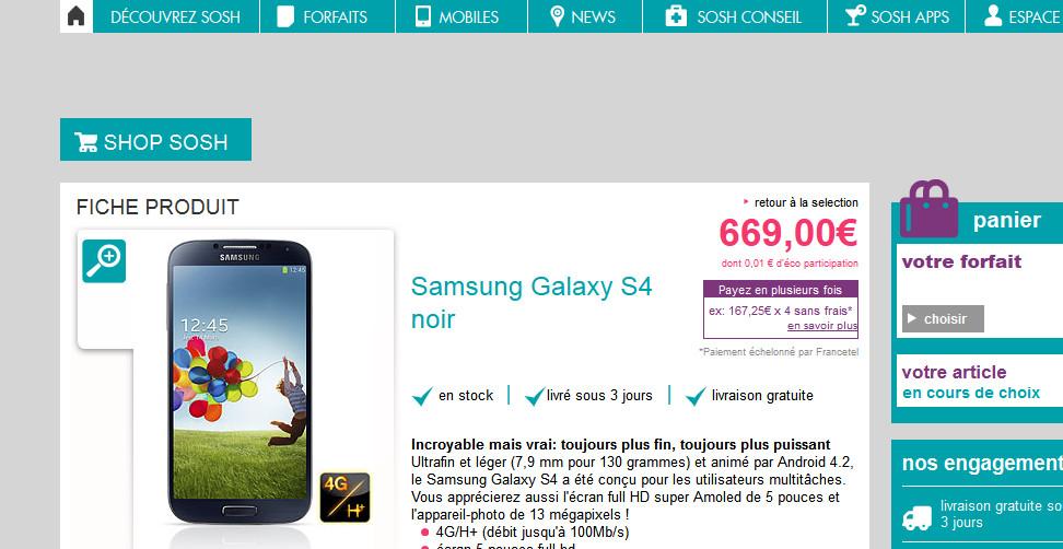 Samsung galaxy s4 quel est l op rateur le moins cher - Payer en plusieurs fois telephone portable ...