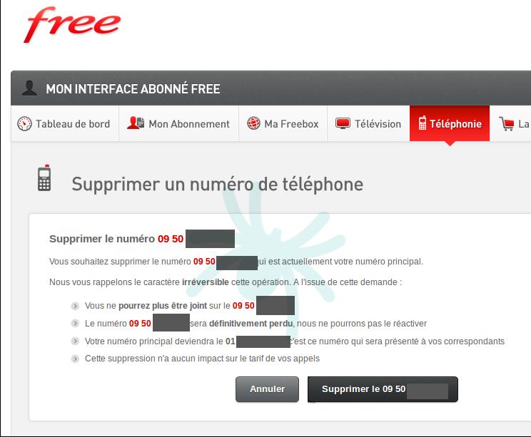 Freebox Il Est Maintenant Possible De Supprimer Le 09 Et Garder
