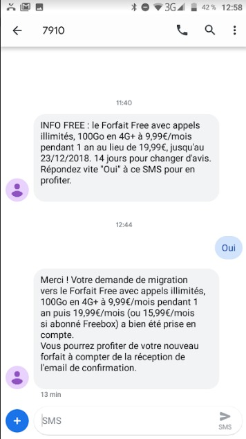 Free Mobile propose à ses abonnés au forfait 2EUR de tester