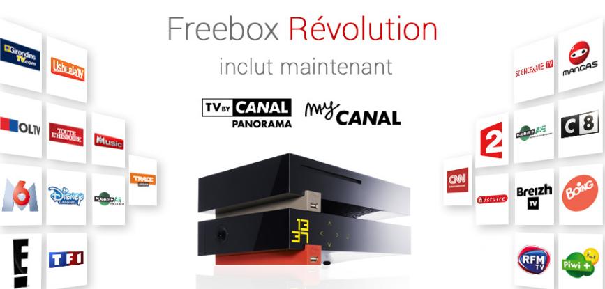 les cha nes canal incluses avec la freebox r volution sont. Black Bedroom Furniture Sets. Home Design Ideas