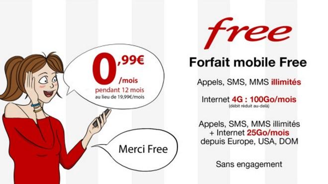 forfait free mobile 100go 0 99 nouvelle prolongation de l 39 offre sp ciale sur vente priv e