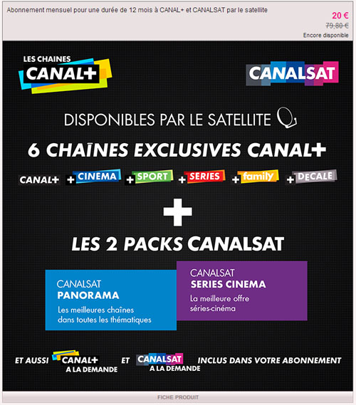 le forum de la tnt bouquet canal canalsat sur astra 19 2 e les offres incluant. Black Bedroom Furniture Sets. Home Design Ideas