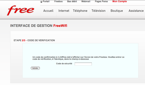 comment avoir son code free wifi