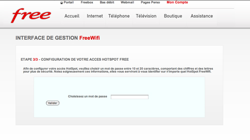 comment se connecter ? free wifi