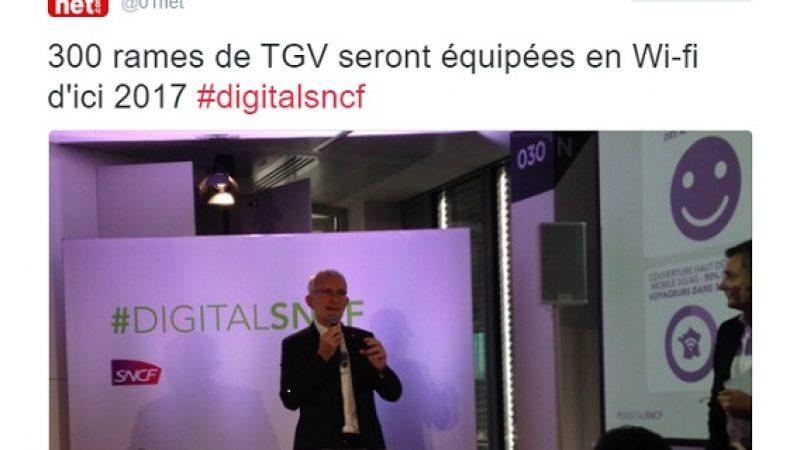 La SNCF équipera ses rames en wifi grâce à Orange et veut couvrir 90% de ses réseaux en haut débit mobile