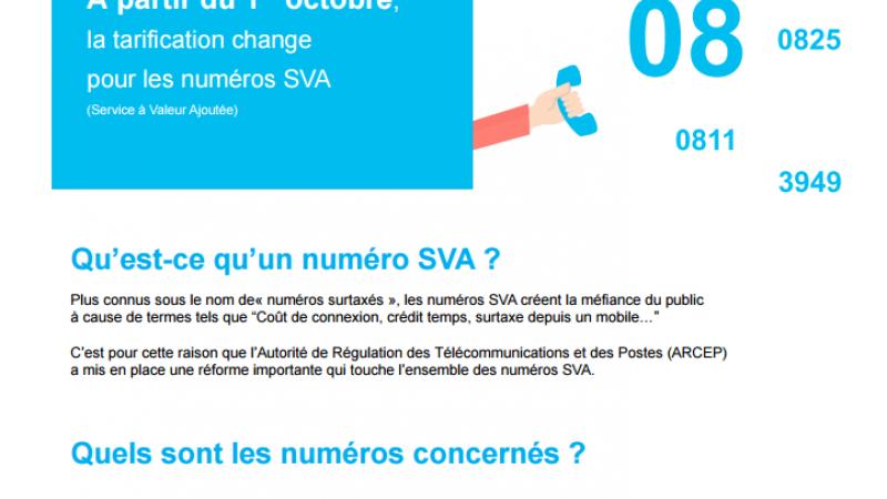 Reforme des numéros surtaxés au 1er octobre : une infographie pour tout comprendre