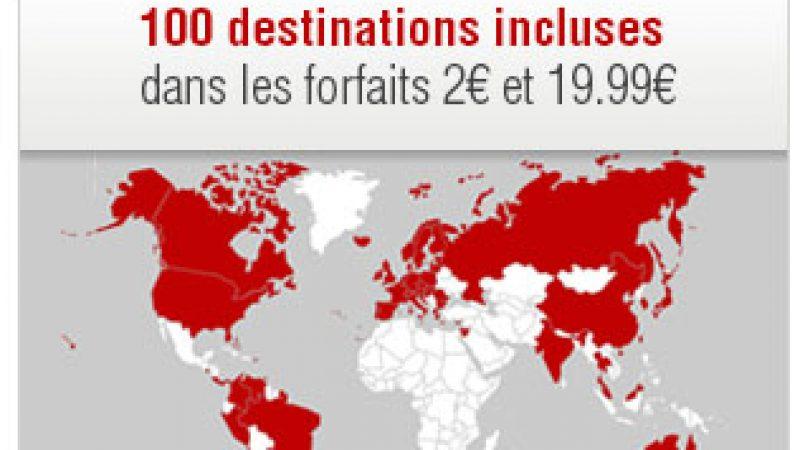 Ajout de nouvelles destinations téléphoniques : Free Mobile met à jour son site