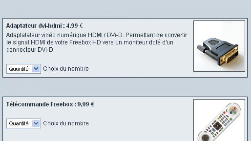 Achetez un accessoire Freebox, c'est possible !