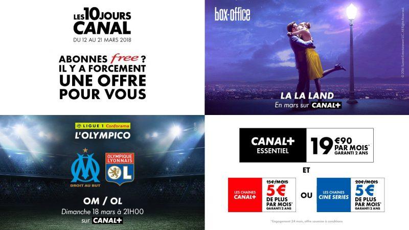 Les 10 jours Canal : 2 offres spéciales sur la Freebox