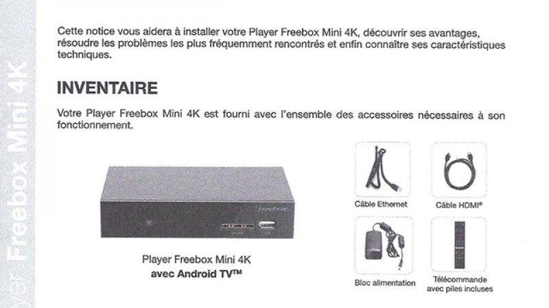 Notices Freebox 4K : découvrez les caractéristiques techniques, la consommation, les formats supportés, etc