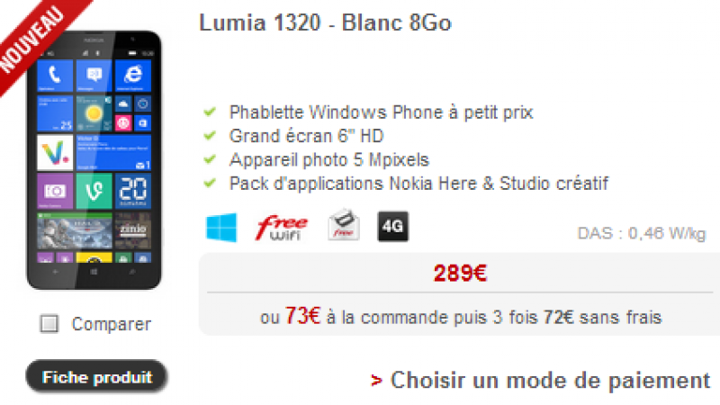 Un nouveau téléphone 4G débarque chez Free Mobile
