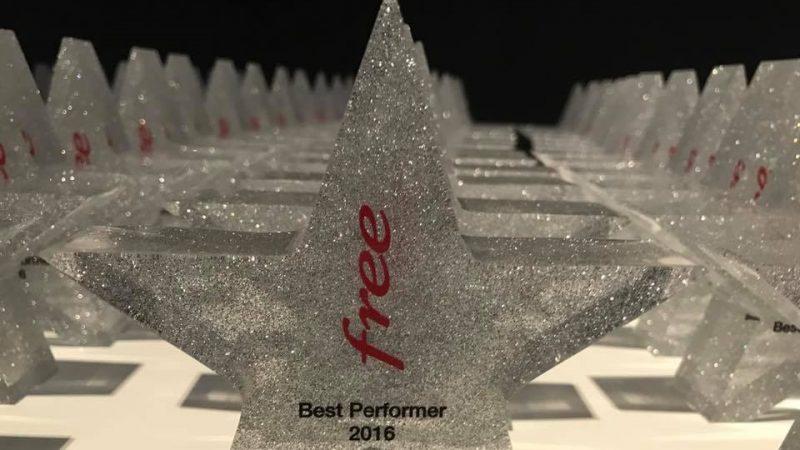 """Free récompense ses meilleurs conseillers de 2016 au """"Best Performer"""" 2016"""