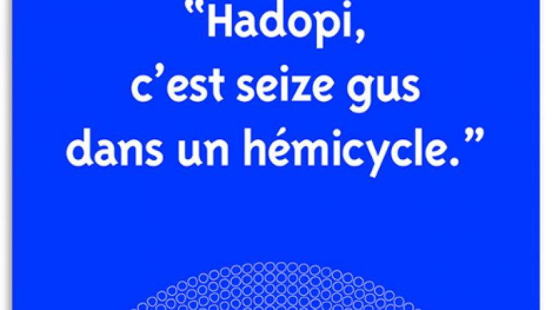 """Clin d'oeil : """"Hadopi, c'est seize gus dans un hémicycle"""""""