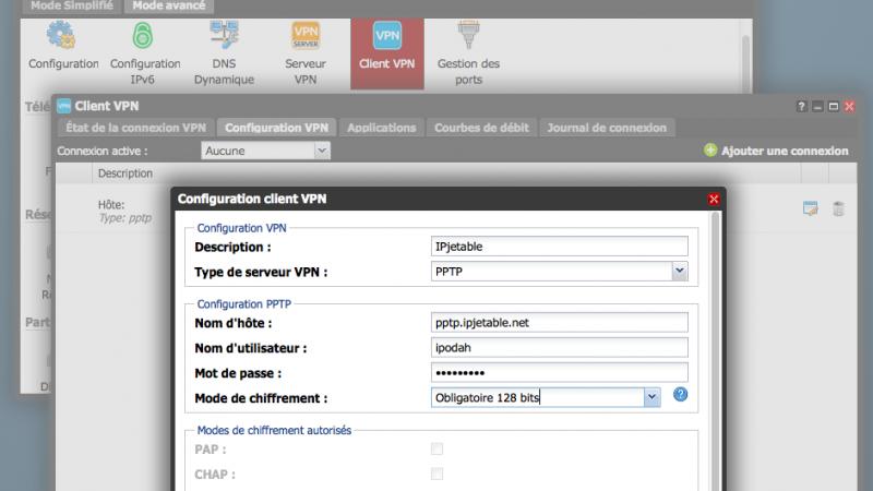 Freebox Révolution : comment configurer le VPN du Server avec IP JETABLE