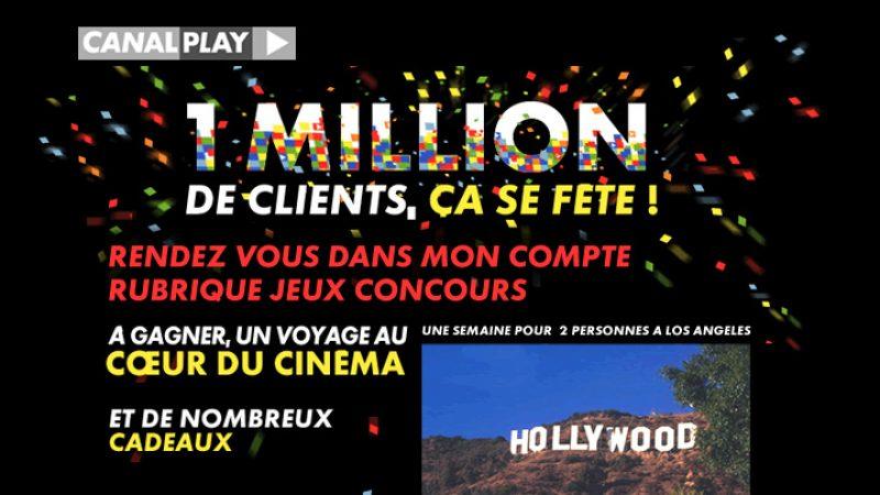 Canalplay: Opération 1 million de clients