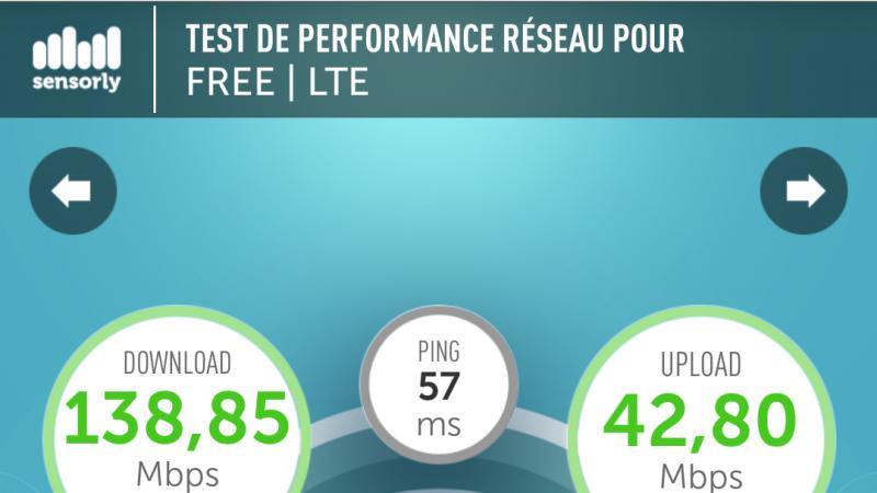 Record 4G Free Mobile Nantes battu !
