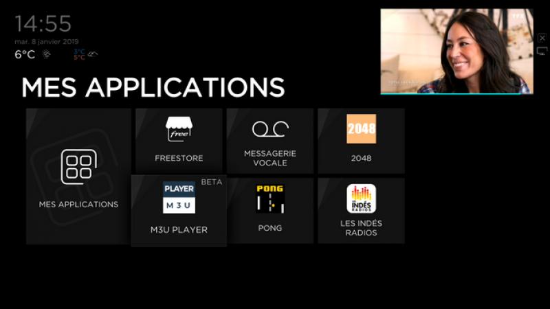 Freebox Delta et Révolution : Mise à jour de Player M3U, qui permet de recevoir une infinité de chaînes TV