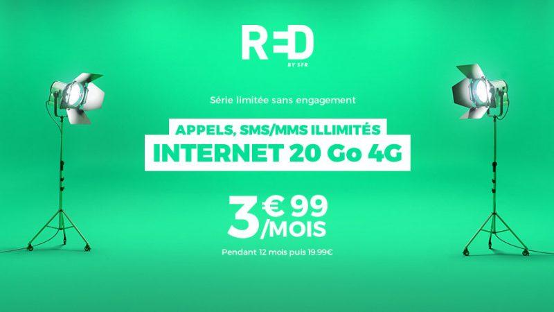 RED by SFR annonce à ses abonnés Showroomprive qu'il prolonge à vie son forfait à 3,99€