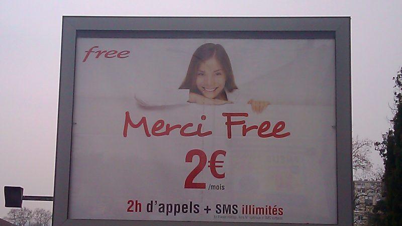 Forfait 2 € : La fille de la pub a grandi.