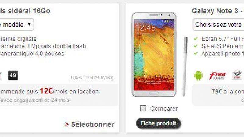 Free Mobile : plusieurs téléphones disparaissent et plus que 2 proposés en location