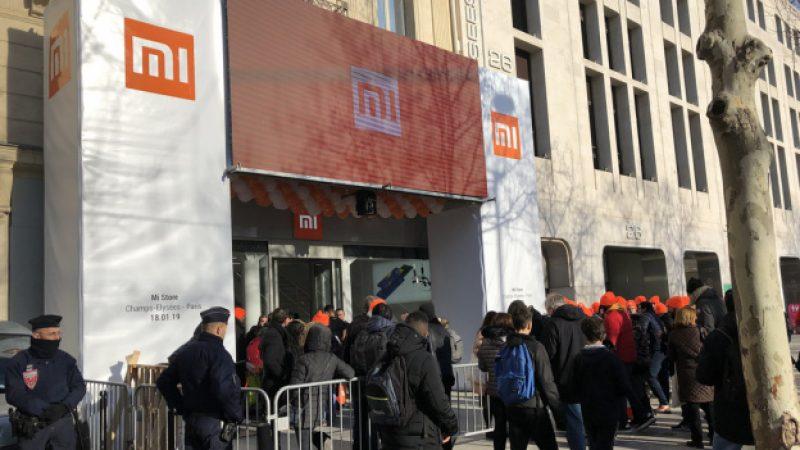 Xiaomi débarque en grande pompe sur les Champs Elysées