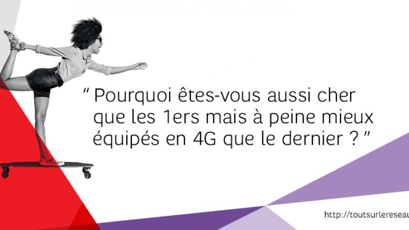 """Pourquoi SFR est """"aussi cher que les 1er mais à peine mieux équipé en 4G que le dernier"""" opérateur"""