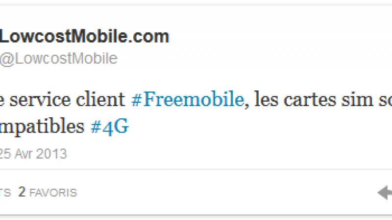 [MàJ] Les cartes SIM de Free Mobile seraient « déjà compatibles 4G »