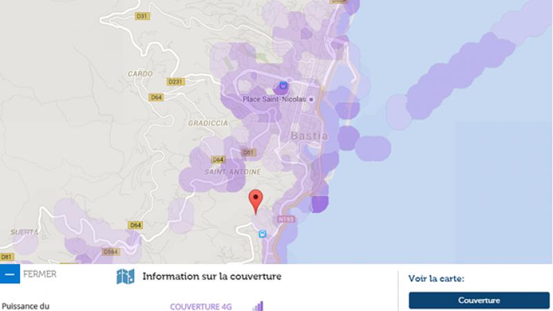 Couverture et débit 4G Free Mobile : Focus sur Bastia