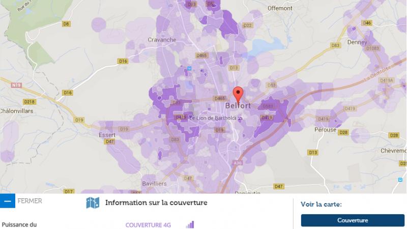 Couverture et débit 4G Free Mobile : Focus sur Belfort
