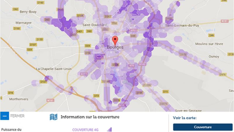 Couverture et débit 4G Free Mobile : Focus sur Bourges