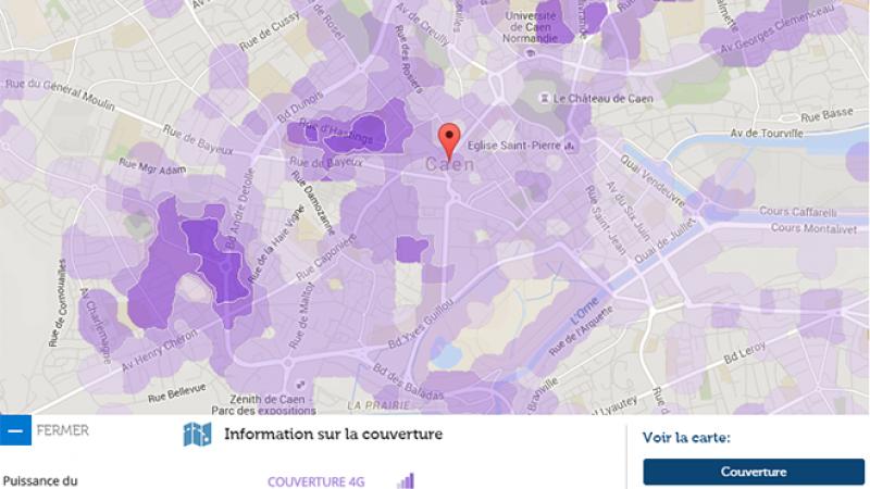 Couverture et débit 4G Free Mobile : Focus sur Caen