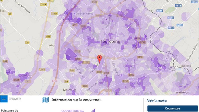 Couverture et débit 4G Free Mobile : Focus sur Tourcoing