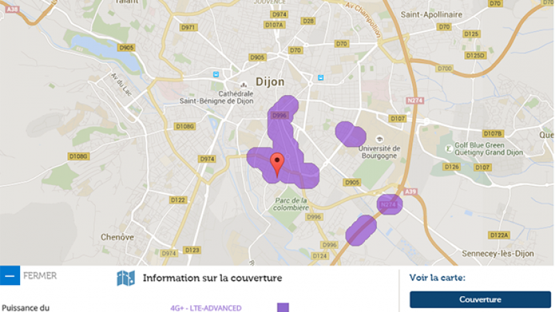 La 4G+ Free Mobile arrive à Dijon