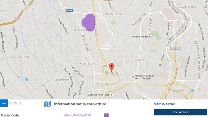 La 4G+ de Free Mobile arrive à Nice
