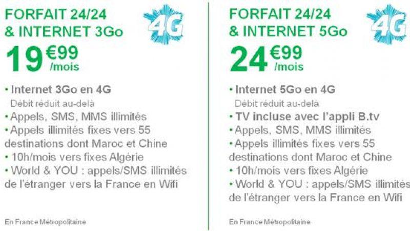 B&You inclura la 4G dès demain, mais contrairement à Free, n'augmente pas la data