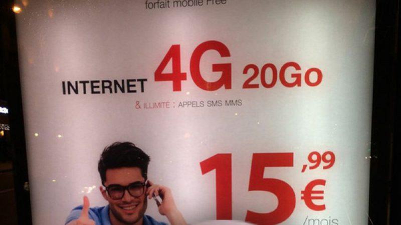 Clin d'œil : quand Free fait de la pub pour la 4G avec un iPhone non compatible 4G