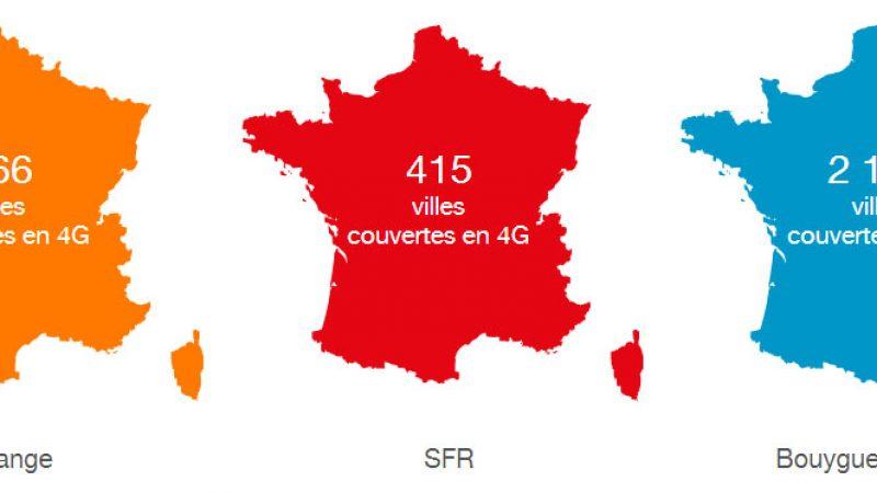 Orange augmente le nombre de villes couvertes en 4G, mais reste loin derrière Bouygues
