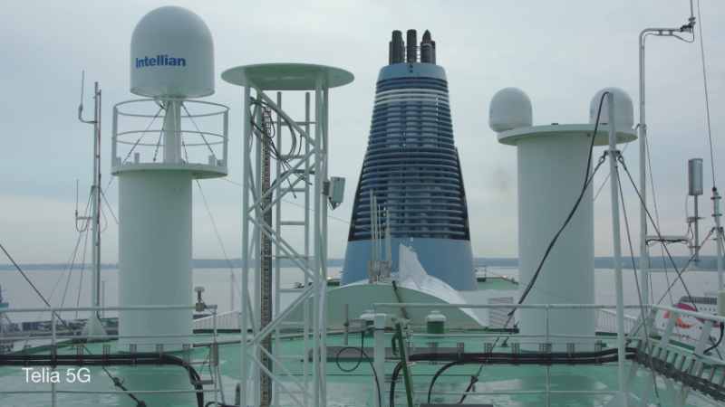 La 5G a été testée en condition réelle sur un navire de croisière