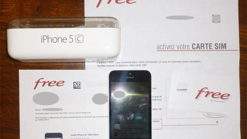 Free Mobile : les premières livraisons d'iPhone 5C ont eu lieu aujourd'hui