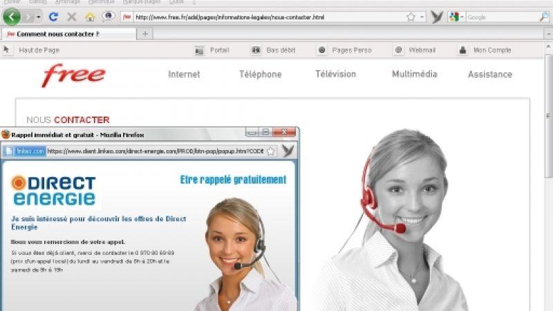 [Clin d'œil] Double emploi pour le mannequin de la page contact de Free