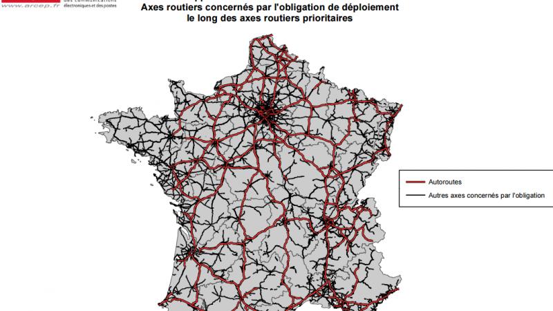 Fréquences 700MHz : la carte des routes, axe ferroviaires et RER concernés par l'obligation de couverture