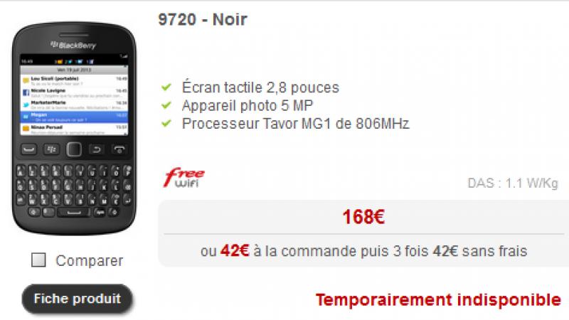 """Deux terminaux """"temporairement indisponibles"""" chez Free Mobile"""