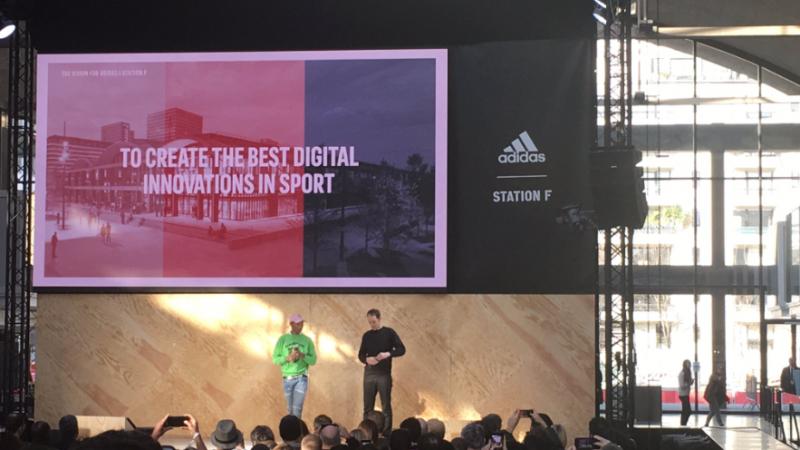 Station F : Adidas lance en grande pompe son accélérateur en présence de Pharrell Williams