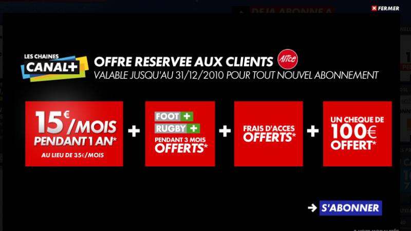 Canal+ : Offre spéciale Alice à moins de 7€ par mois !